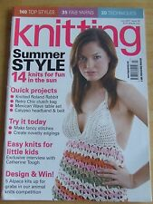 KNITTING MAGAZINE ISSUE 39 JUL 2007 14 KNITS SUN ROLAND RABBIT CLUTCH BAG EASY K