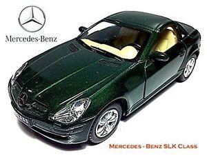 "Brand New 5"" Kinsmart Mercedes Benz SLK Class Diecast Model Toy Car 1:32 GREEN"