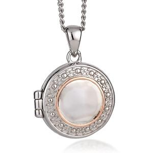 Clogau Silver Locket 22'' 925 Circle Opening Welsh Rose Gold Pendant XX3SCWTL1