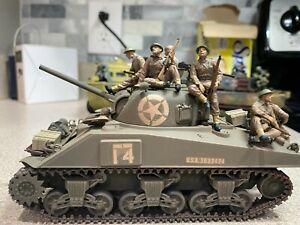 1/35 scale built american sherman tank