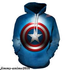 Avengers Captain America Leisure Hoodie Print Sweater Pullover Men's Sweatshirt