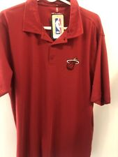 Miami Heat NBA Fanatics Brand Polo Men's Size XL Dress Shirt Basketball NWT New