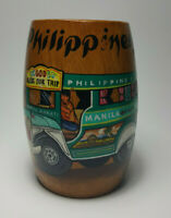 Vintage Wooden Colorful Jeepney Mug Philippines Souvenir Handcrafted by Igorots