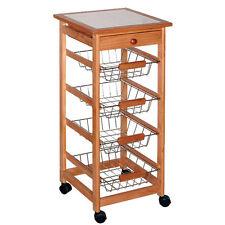 Portable Rolling Kitchen Island Cart Trolley Basket Shelf Storage Drawer Modern