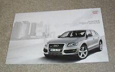 Audi Q5 Brochure 2008 - 2.0 TFSI 2.0 TDI 3.0 TDI SE S-Line