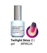 Lechat Mood Color Changing Soak-Off Gel Nail Polish Twilight Skies #MPMG24
