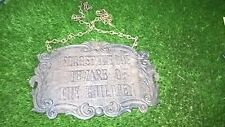 More details for cast iron plaque on chains