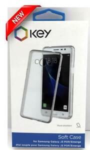 NEW Key Brand Soft Cover Case for Samsung Galaxy J3 POP/Emerge Clear