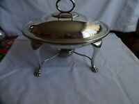 Antique Silver Plated A1 Food Warmer With Burner Walker & Hall Sheffield