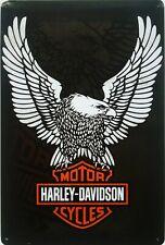 Motorcycle Metal Plaque / Harley Davidson eagle motorbike biker garage Tin Sign