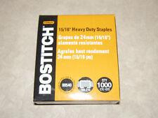 """1,000 Stanley Bostitch 15/16"""" Heavy Duty Staples SB3515/16HC-1M For Model 00540"""