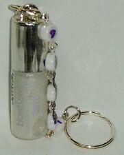 1 BON BONS Bari Flavored Lip Gloss With LOVE Beaded Key Chain VANILLA Sealed