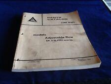 Allis-Chalmers Corn Heads Parts Catalog Adjustable Row 9005558 February 1979