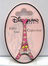 Disney Pin Cheshire Cat Eiffel Tower Collection Pin NEW