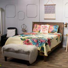 Cozelle Home Decor Louisa 4 Peças Colcha Reversível Marigold Conjunto De Microfibra King