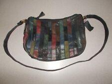 Flings Women's genuine leather patchwork pattern medium handbag purse READ