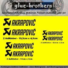 Aufkleber Set Akrapovic 6-teilig schwarz Motorsport Decal Sticker Farbauswahl