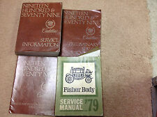 1979 CADILLAC ELDORADO FLEETWOOD DEVILLE SEVILLE Shop Service Repair Manual Set