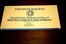Virginian Railway 1948 Misc.Mow Equipment Diagrams &Data Book by Tlc Publishing