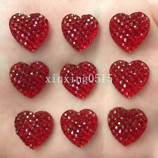 Dress It Up Red Glitter Hearts-día de San Valentín Adornos Botones Galore