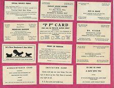 1950'S-Arcade Cards-Lover'S Fun Card Set