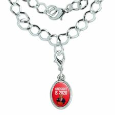 Donald Trump Hindsight is 2020 Silver Plated Bracelet with Antiqued Oval Charm