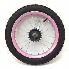 """14"""" Rear Pink Bicycle Wheel w/ Coaster Brake & 2.125"""" Tire - Kids Bike - #H30"""