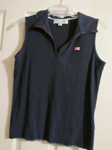 Carolyn Taylor Blue Sleeveless tank with American Flag, NWOT, Size Large