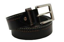 Black 100% Pure Genuine Leather Formal Waist Belt for men Single Prong Buckle
