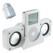 Blanco Universal Portátil Plegable Altavoz para iPhone, iPads y iPods