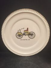 The Harker Pottery Co. Ford's First Car 1896, 22kt gold trim, 10.5""