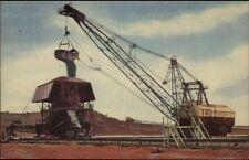 Minnesota Mesabi Iron Mining Giant Shovel Heavy Equipment Linen Postcard