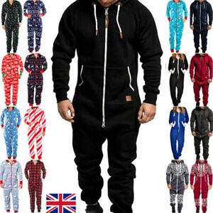 Men/'s Striped One piece Jumpsuit Nightwear 1Onesie Pyjamas Long Sleeve Pajamas.