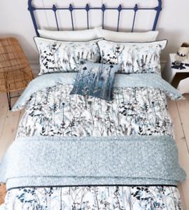 Clarissa Hulse Prairie Blue 100% Cotton King Duvet cover Set (2 P/cases) NEW