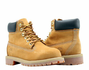 Timberland 6-Inch Premium Waterproof Wheat Youth Little Kids Boots 12709