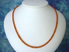 MANDARINGRANAT KETTE 66,20 Ct. facettierter Granat orange 46,5 cm (900k)
