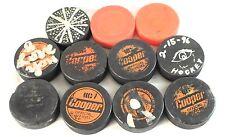 Vintage Lot of Vintage Czechoslovakia Cooper Hockey Pucks & Other
