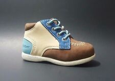 New $80 KICKERS Shoes Boots Toddler Boys LEATHER Fashion Size 6 USA/22 EURO