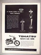 Tohatsu Sport-LE-125 Motorcycle PRINT AD - 1963 ~~ Johnny Honda