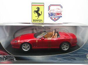 1:18 Hot Wheels Ferrari 550 Barchetta 2000 rouge (Pininfarina) no Elite