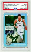 GIANNIS ANTETOKOUNMPO 2018 Panini Contenders Optic #55 SILVER PSA 10 GEM MINT