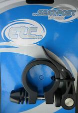 ETC Bike Seat Post Frame Clamp Black Alloy Quick Release Lever 34.9mm Diameter