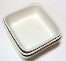 3 Pc. White Royal Doulton Spa Lifestlye Reflection Appetizer Set Dipping Dishes