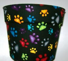 PAW PRINTS DOG LOVERS FLOWERPOT GIFT WRAP SUPPLIES BASKET CONTAINER