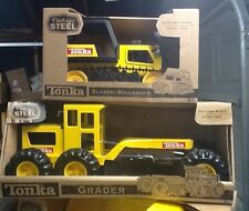 TONKA VINTAGE  STEEL GRADER / BULLDOZER COMBO  NEW IN BOX