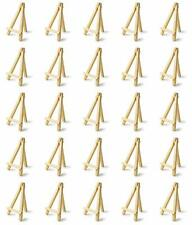 Bastex 25 Piece Mini 5 Inch Smooth Wooden Easel Natural Wood Craft Home Decor