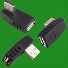 Right Angled USB 90 Degree Male to Female Cable Coupler Adaptor, PC Laptop TV