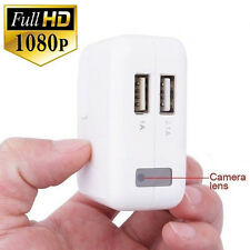 Mini USB PARED CARGADOR Oculto 1080p Cámara Espía HD Grabador DVR movimiento
