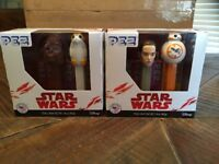 STAR WARS PEZ 2 PACK LOT OF 2 CHEWBACCA PORG REY BB-8 NEW L@@K