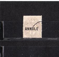 timbre France  type Blanc  1c surchargé Annulé     NUM: 107-CI 1  oblitéré